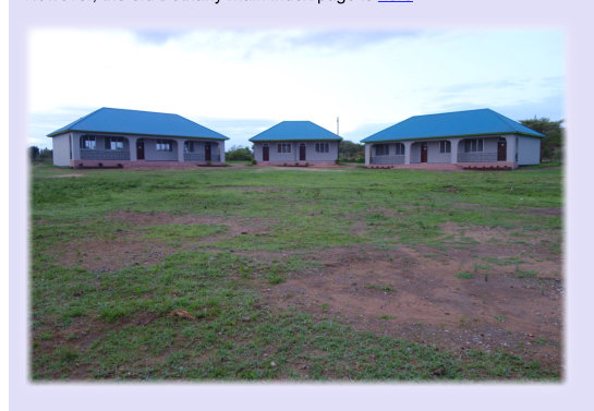 Classrooms 1 and 2 on the left, Staffroom and Head teachers office in the centre and Classrooms 3 and 4 on the right