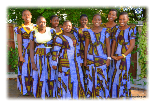 left to right: Debora, Rehema, Fatuma,Sophia,Stella, Mpelwa, Nkamba and Elizabeth