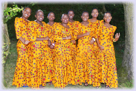 From left to right: Deborah, Rehema, Fatuma, Sophia, Stella, Mpelwa, Nkamba and Elizabeth